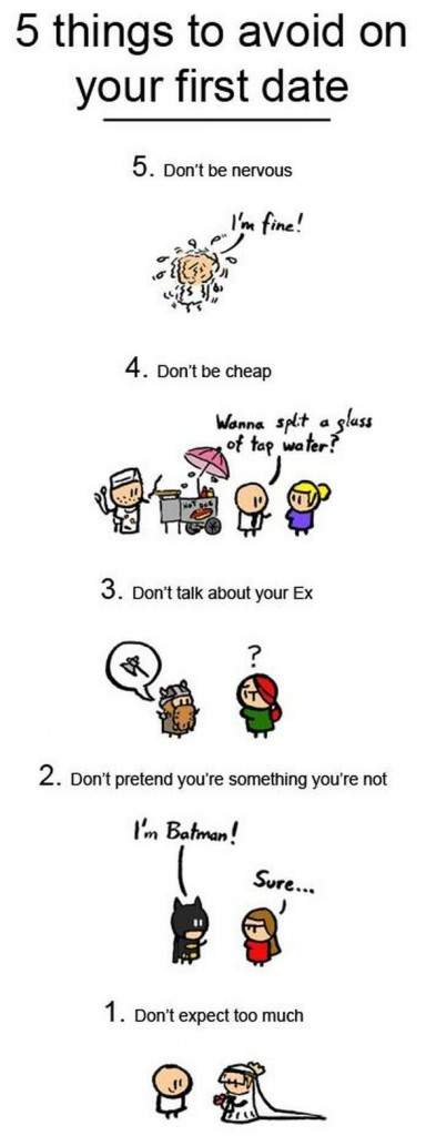 What not to do on your first date!