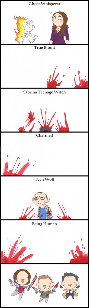 Essentially what the Supernatural fandom does to every other paranormal-centred fandom