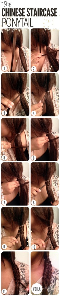 Tutorial: Chinese Staircase Ponytail