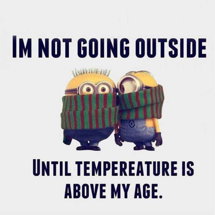 So cold!