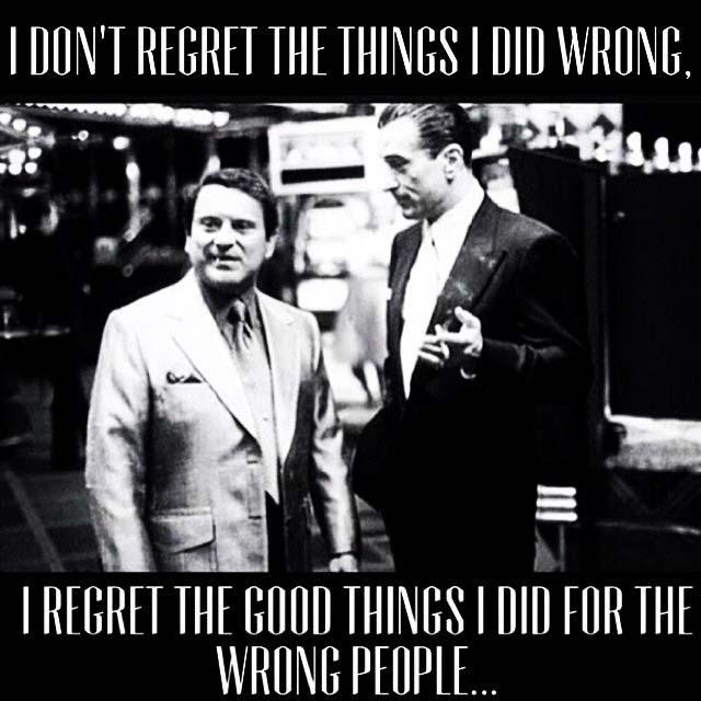 I regret…